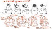 CS2E08B Rosa as La Tortuga drawing