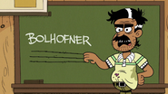 S5E01 Mr. Bolhofner scratching his nails on the chalkboard