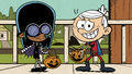 S2E07B Lincoln and Clyde as Lucy during halloween