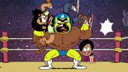 CS1E07 A luchador wrestles Arturo
