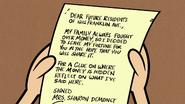 S1E13B Sharon's letter