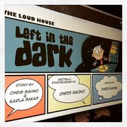 Left in the Dark title card on computer