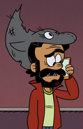 Arturo with dolphin-shaped hat