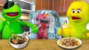 Kermit's Kitchen COOK OFF EDITION! Kermit the Frog VS Big Bird (ft