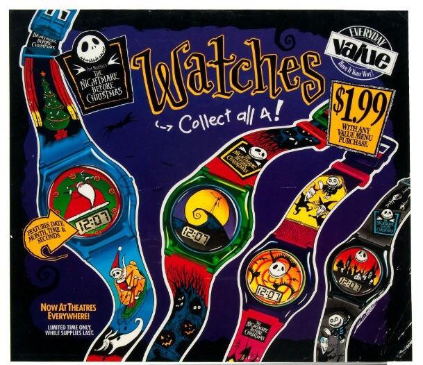 Nightmare Before Christmas Burger King Watches