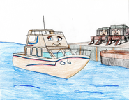 Carla at the harbour by trainsandcartoons dcxrslb