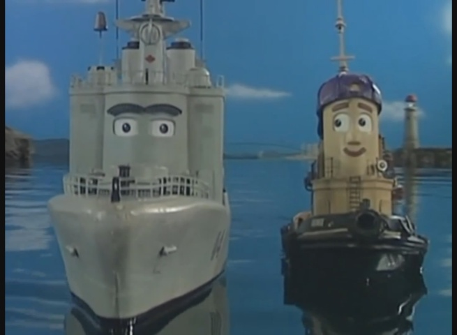 George and the Navy Ship