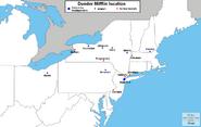 Dunder Mifflin branch map