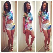 3z1se7-l-610x610-jumpsuit-bgc-bgc12-high+heels-bad+girls+club-model-slim-hair-floral+shorts-floral+skirt-pieces+set-beautiful-gorgeous-awsome-amazing-hair+sty