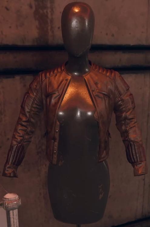 Bullet-riddled leather jacket