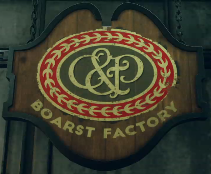 C&P boarstwurst sign
