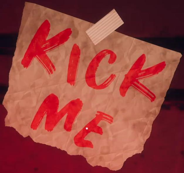 Kick me sign (log)