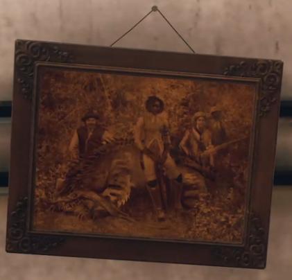 Framed photograph of Nyoka's crew