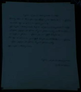 Damaged letter