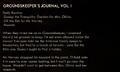 Groundskeeper's journal, val. I log