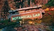 Botanical lab sign