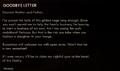 Goodbye letter log