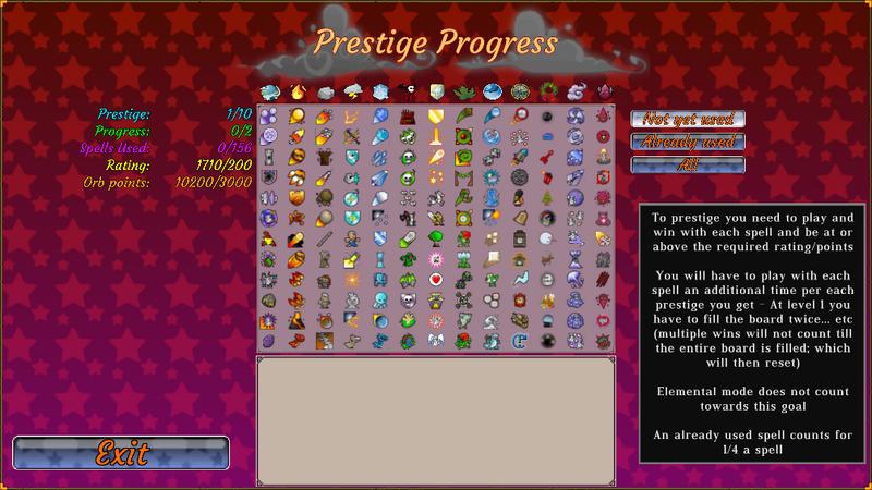 Prestige Progress Menu