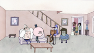 S2E09.042 People Looking at Mordecai and Rigby's Party