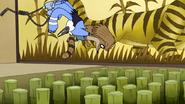 S4E13.130 Mordecai and Rigby Dodging an Attack