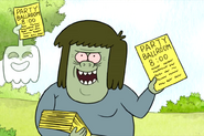 S4E10-Muscleman and HFG passing out flyers