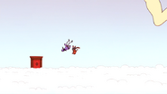 S4E13.291 Mordecai and Rigby Being Sent Flying by the Kick