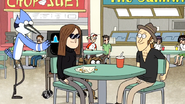 S6E19.075 Mordecai and Rigby Walking Past Another Couple's Table