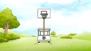 Sh03.011 Basketball Hooper Pole on the Cart