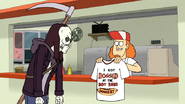 S4E34.178 Marty Giving Death His Complimentary Shirt