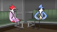 S6E20.166 Mordecai and Margaret Laughing at Mordecai's Joke
