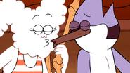 S5E27.49 Mordecai & CJ Almost Kiss