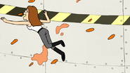 S7E32.162 Pam Eating Wings in the Air