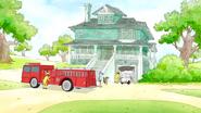 S6E23.020 Firefighers at the Garage Door Crash