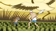 S4E13.141 Rigby Stepping of Death on the Bamboo
