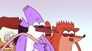 S4E13.223 Mordecai and Rigby Amazed with the Two Sandwiches