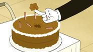 S6E17.122 Happy Birthday Sticks His Finger in the Cake