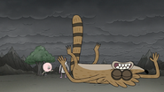 S8E07.203 Rigby Landing on the Ground