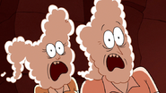 S6E03.206 CJ and Carl Putter Screaming at the Demon Gophers