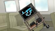 S6E19.039 The TV in Skips' Van