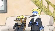 S2E11.150 Mordecai and Rigby Going Back to Normal
