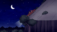 S7E27.184 The Car Stopped in Front of a Tree Branch