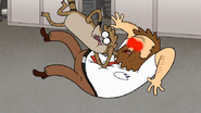 S7E25.193 Rigby Elbowing Andy