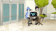 S6E19.065 Mordecai and Rigby Ignoring Petition Guy