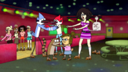 S4E06.199 Mordecai Rigby And HFG Holding On To Their Dates