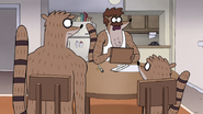 S7E27.038 Sherm Telling Rigby and Don to be Quiet