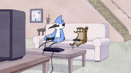 S3E04.032 Mordecai and Rigby Playing Video Games