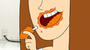 S7E32.151 Wings in Pam's Mouth