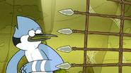 S6E19.161 Mordecai Activates the Light Booby Trap