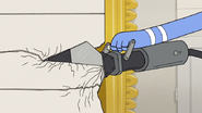 S6E23.141 The Jaws of Life Being Used on the Garage Door