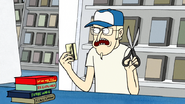 S3E34.028 Dave Going to Cut Mordecai and Rigby's Membership Card